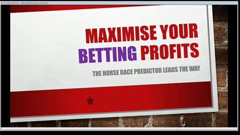 The Horse Race Predictor Live Event   YouTube