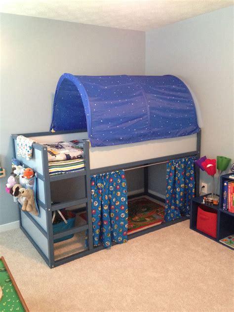 The IKEA Kura bed I customized for my train loving little ...