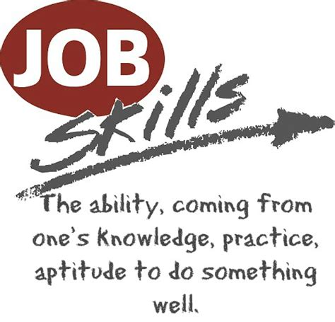 The Job Skills List