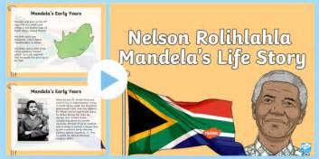 The Life Story of Nelson Mandela PowerPoint  teacher made