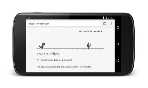 The Offline Dinosaur in Google Chrome is Actually a Game