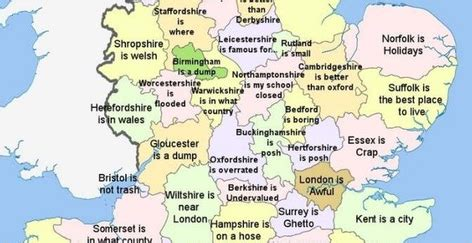 The only  extremely  offensive autocorrect map of England ...