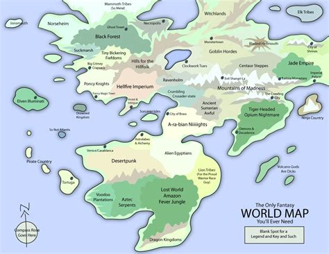 The Only Fantasy World Map... by EotBeholder on DeviantArt