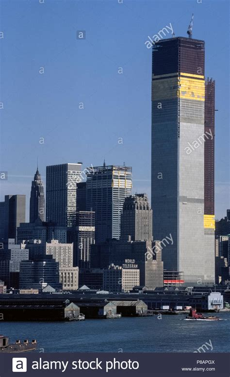 The original World Trade Center's Twin Towers under ...