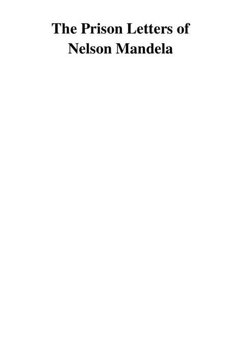 The Prison Letters of Nelson Mandela PDF   Nelson Mandela