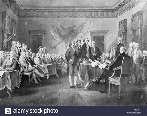 The signing of the United States Declaration of ...