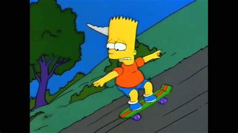 The Simpsons   Bart skateboarding   YouTube