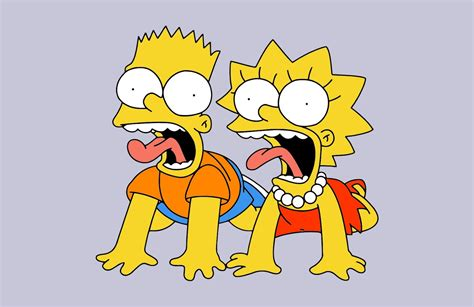 The Simpsons Game Bart And Lisa | Vector Game