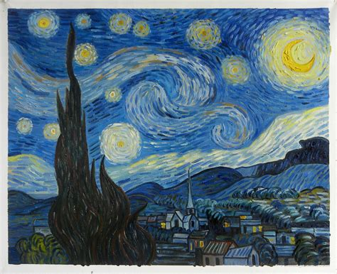 The Starry Night   Vincent van Gogh Paintings