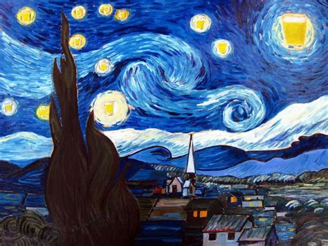 The Starry Pint. Inspired By Vincent Van Gogh | Bored Panda