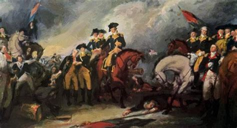 The Surrender Of The Hessian Troops At The Battle Of ...