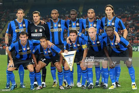 The team of Inter during the UEFA Champions League Group B ...