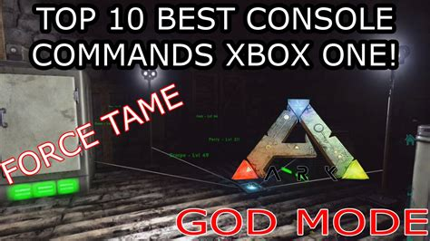 THE TOP 10 BEST CONSOLE COMMANDS FOR XBOX ONE   ARK ...