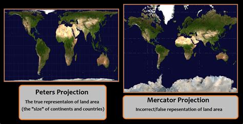 The True Size of our worlds map  Mercator Projection vs ...