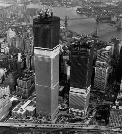 The Twin Towers Under construction 1971 [1901 x 2100 ...