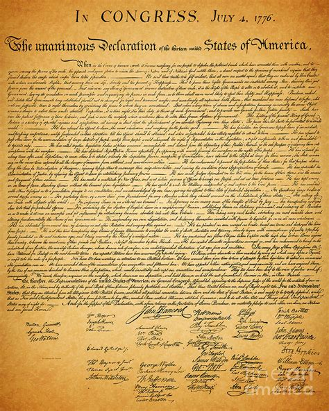 The United States Declaration Of Independence Photograph ...