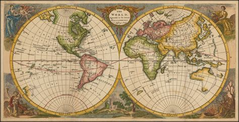 The World Agreable to the latest Discoveries   Barry ...