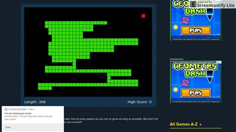 The world record for Snake  CoolMath   YouTube