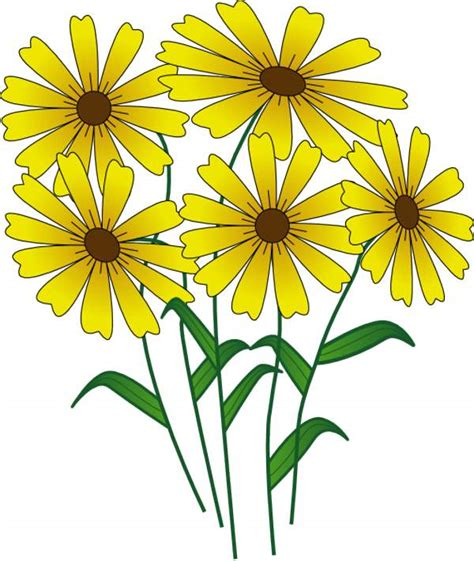 The yellow blooms clipart   Clipground