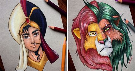 This Artist Merges Disney Heroes With Villains | Bored Panda