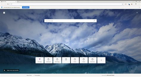 This is a new Microsoft Edge browser based on Chromium ...