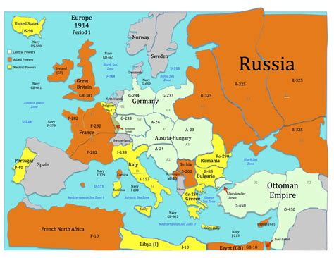 This is the War Map for the World War One Simulation ...