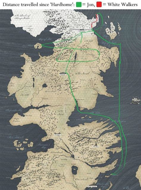 This 'Game Of Thrones' Map Shows Just How Slow The White ...