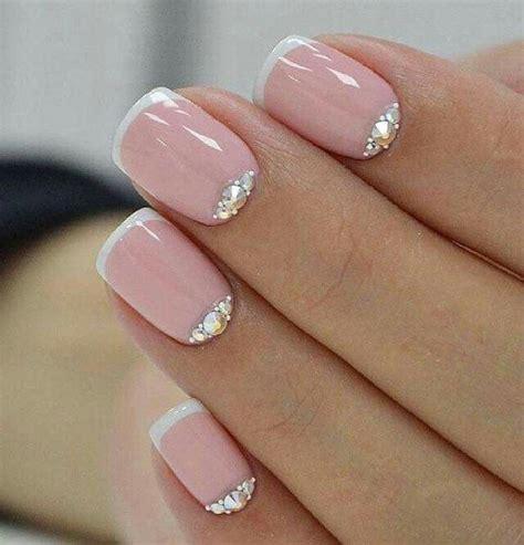 Tierno modelo de uñas   Uñas para novia, Manicura de uñas ...