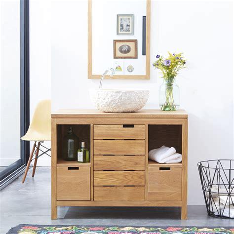 Tikamoon : Mueble de lavabo de roble macizo 100 Serena
