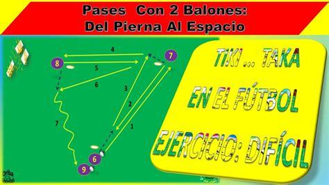 TIKI TAKA EJERCICIO DE PASES CON 2 BALONES DEL PIERNA AL ...