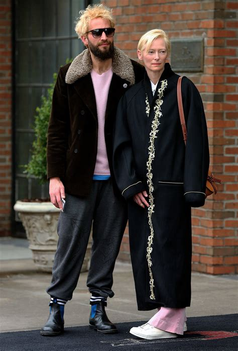 Tilda Swinton Steps Out with Partner Sandro Kopp in Rare ...