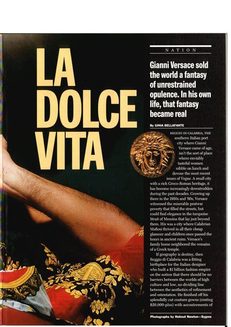 TIME 1997 July 28 Gianni Versace  La dolce vita  Part Nº 4 ...