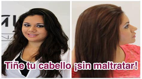 Tiñe tu cabello  sin maltratar    YouTube