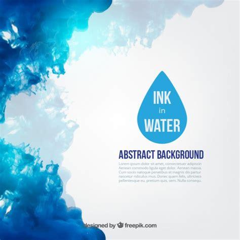 Tinta azul na água   Baixar vetores grátis