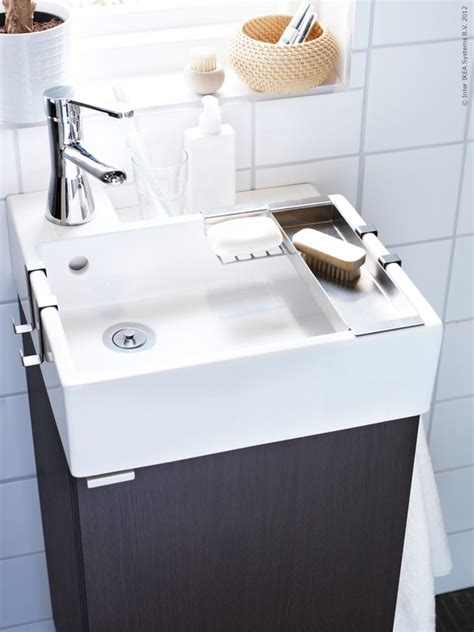 Tiny IKEA sink for half bath | Let s build a house ...