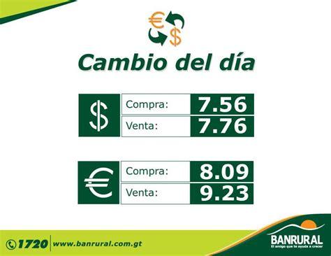 Tipo De Cambio Hoy Guatemala – Currency Exchange Rates