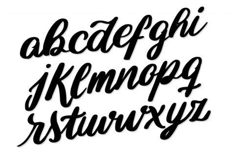 Tipografia de fonte de alfabeto de letras manuscritas ...