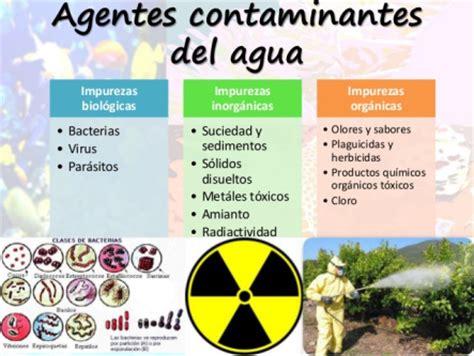 TIPOS DE CONTAMINANTES ACUÁTICOS   CONTAMINACIÓN HÍDRICA