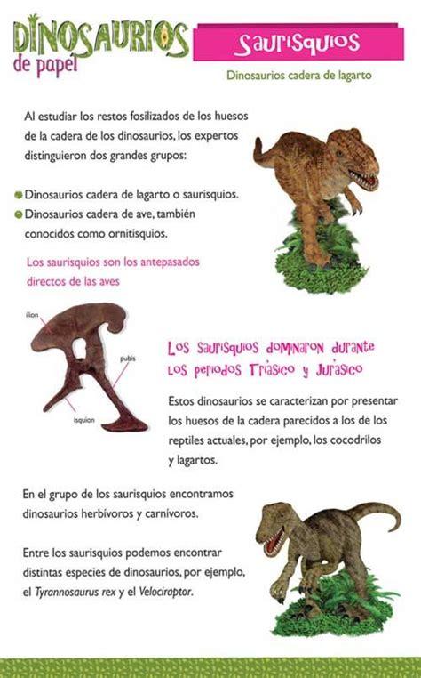 TIPOS DE DINOSAURIOS  información  | actividades ...