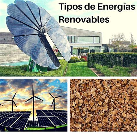 Tipos de Energías Renovables   Comunidad Proinco