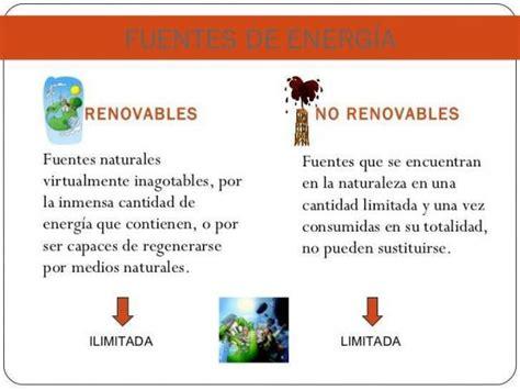 Tipos de energías renovables y no renovables