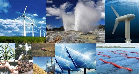 Tipos de recursos renovables