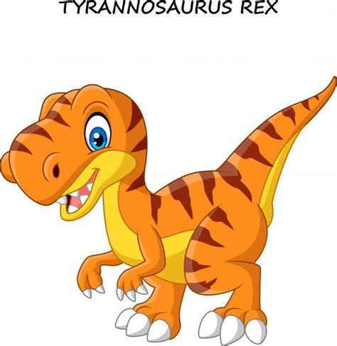 Tiranosaurio divertido de dibujos animados Vector Premium ...