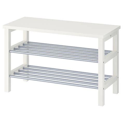 TJUSIG Bank met schoenenrek   wit   IKEA