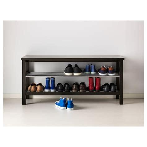 TJUSIG Bench with shoe storage, black, 42 1/2x19 5/8    IKEA