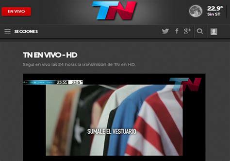 TN Todo Noticias, canal de cable 24 hs.