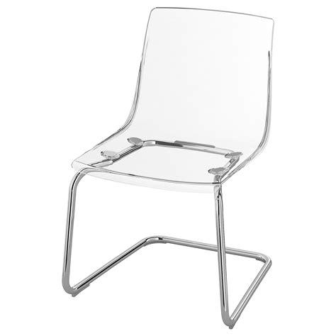 TOBIAS Chair   transparent, chrome plated   IKEA