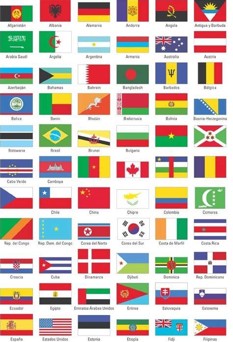 Todas las banderas de todos los países con sus nombres ...