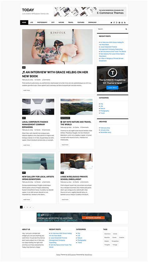 Today Magazine & Blog Free WordPress Theme   WPExplorer