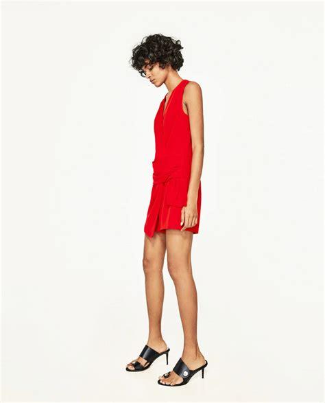 Todo al rojo | Zara: monos cortos, tendencia del verano ...